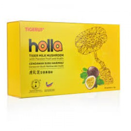 TIGERUS HOLLA Tiger Milk Mushroom with Passionfruit & Inulin for Improve Immune System (2g x 30 sachets)