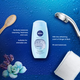 NIVEA Shower Clay Fresh Blue Agave & Lavender 250ml