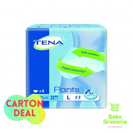 Tena Pants Plus  L8 - 1 Carton = 6 Bags
