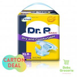 Tena Dr. P Adult Diaper XL8 - 1 Carton (8Bags per Carton)