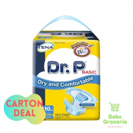 Tena Dr. P Adult Diaper M10 - 1 Carton (12 Bags per Carton)