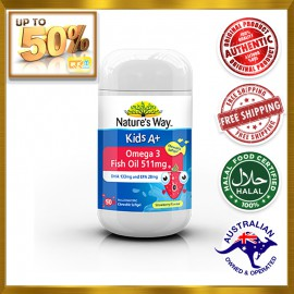 NATURE'S WAY Kids A+ Omega 3 Fish Oil 511mg Chewable Softgel 50s