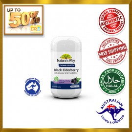 NATURE'S WAY Black Elderberry With Vitamin A, C, D, E and Zinc Chewable Button 60s