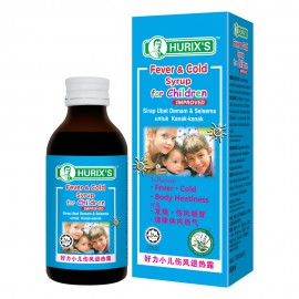 Hurix's Fever & Cold Syrup For Children (Improved) 60ml